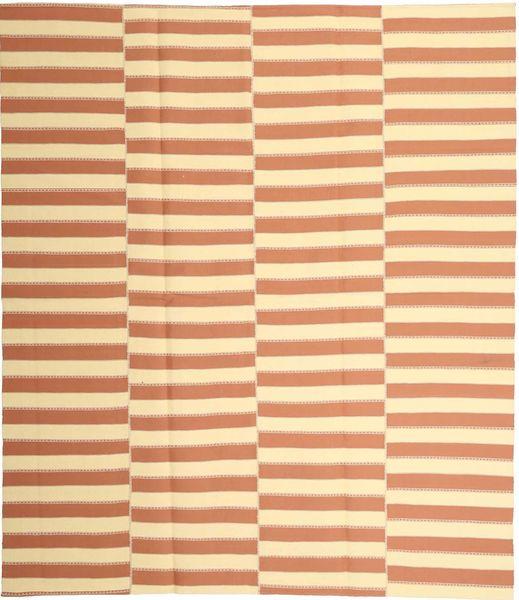 Kelim Moderni Matto 228X265 Moderni Käsinkudottu Beige/Vaaleanruskea (Puuvilla, Persia/Iran)