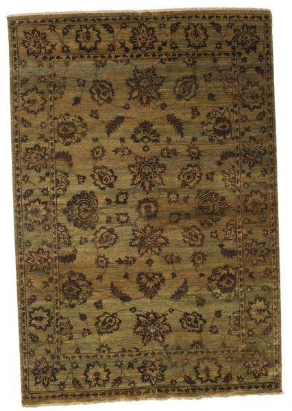Damask Matto 184X267 Moderni Käsinsolmittu Ruskea/Musta ( Intia)