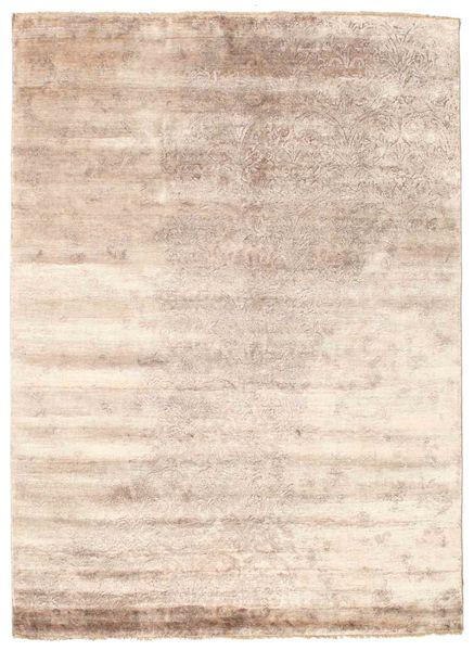 Damask Matto 175X240 Moderni Käsinsolmittu Valkoinen/Creme/Tummanruskea ( Intia)