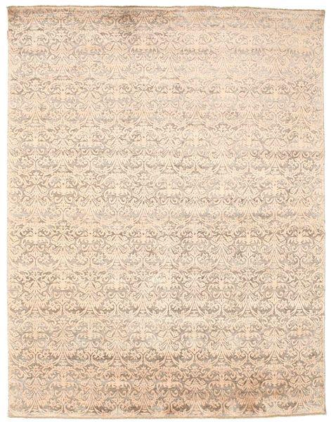 Damask Matto 233X301 Moderni Käsinsolmittu Beige/Keltainen ( Intia)