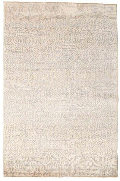 Damask Matto 172X261 Moderni Käsinsolmittu Beige/Vaaleanharmaa ( Intia)