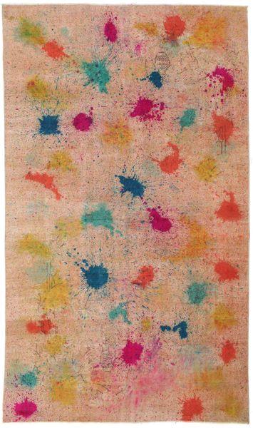 Colored Vintage Matto 170X286 Moderni Käsinsolmittu Vaaleanruskea/Tummanpunainen (Villa, Turkki)