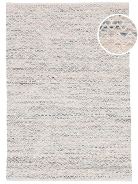 Chevron Waves - Vaalea Matto 160X230 Moderni Käsinkudottu Beige/Vaaleanharmaa ( Intia)