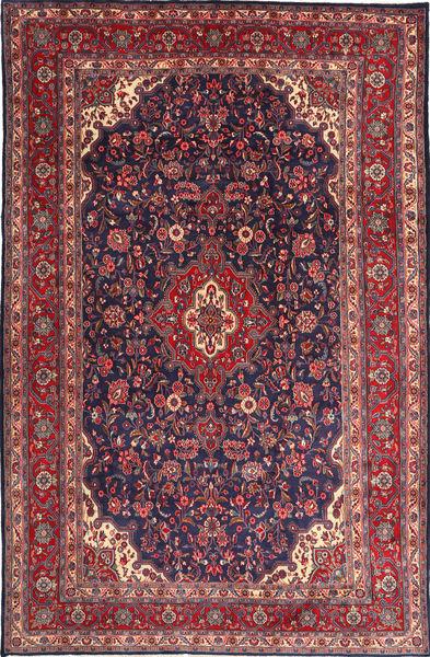Hamadan Shahrbaf Matto 217X335 Itämainen Käsinsolmittu Tummanvioletti/Vaaleanvioletti (Villa, Persia/Iran)