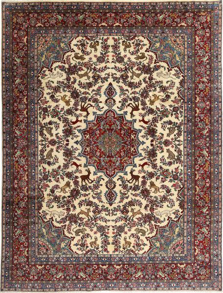 Hamadan Shahrbaf Figural/Pictorial Matto 262X348 Itämainen Käsinsolmittu Tummanruskea/Vaaleanruskea Isot (Villa, Persia/Iran)