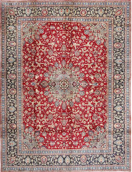 Keshan Matto 290X380 Itämainen Käsinsolmittu Neliö Vaaleanharmaa/Punainen Isot (Villa, Persia/Iran)