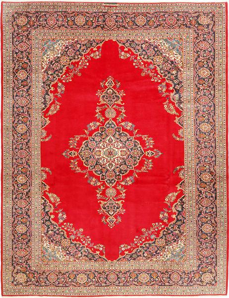Keshan Matto 293X388 Itämainen Käsinsolmittu Punainen/Vaaleanruskea Isot (Villa, Persia/Iran)