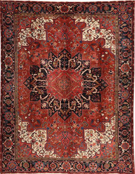 Heriz Matto 295X380 Itämainen Käsinsolmittu Tummanpunainen/Tummanruskea Isot (Villa, Persia/Iran)