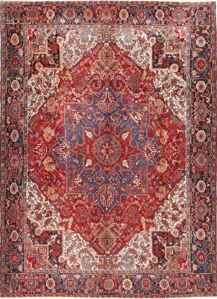 Heriz Matto 298X414 Itämainen Käsinsolmittu Tummanpunainen/Ruskea Isot (Villa, Persia/Iran)