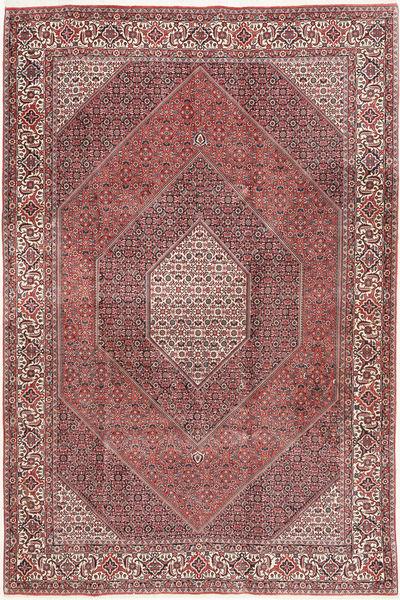 Bidjar Matto 200X298 Itämainen Käsinsolmittu Ruskea/Tummanpunainen (Villa, Persia/Iran)