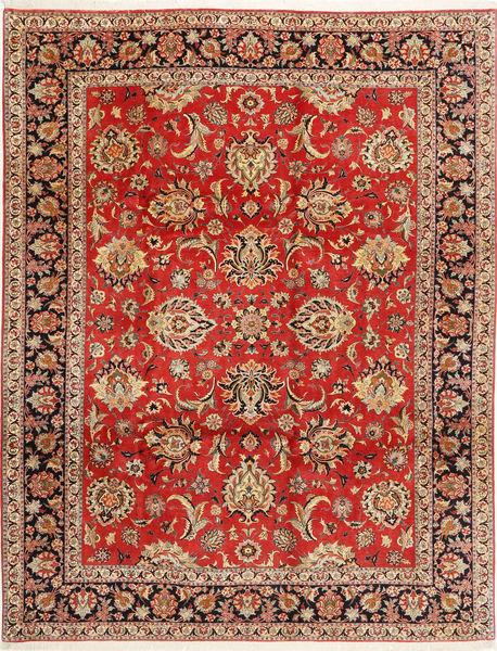 Bidjar Matto 312X402 Itämainen Käsinsolmittu Ruoste/Tummanruskea Isot (Villa/Silkki, Persia/Iran)