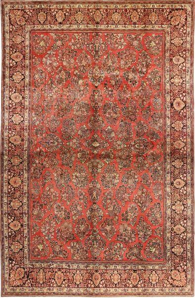 Sarough American Matto 310X485 Itämainen Käsinsolmittu Tummanruskea/Ruoste Isot (Villa, Persia/Iran)