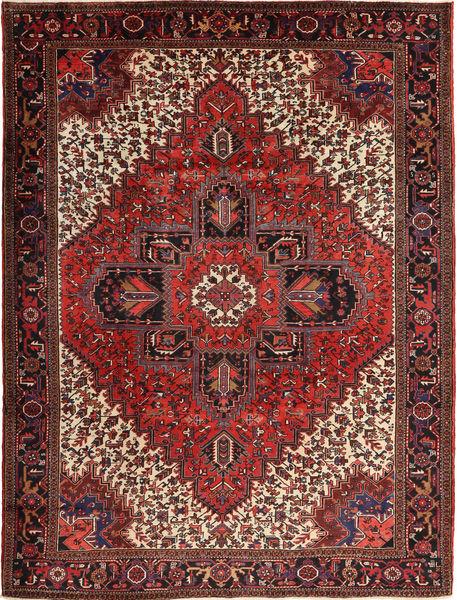 Heriz Matto 254X338 Itämainen Käsinsolmittu Tummanpunainen/Tummanruskea Isot (Villa, Persia/Iran)