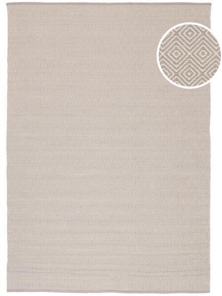 Diamond - Light_Gray Matto 160X230 Moderni Käsinkudottu Vaaleanharmaa/Beige (Puuvilla, Intia)