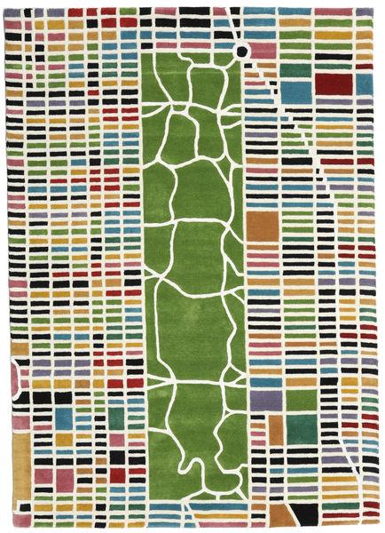 New-York/Manhattan Handtufted - Multi Matto 160X230 Moderni Beige/Tummanvihreä (Villa, Intia)