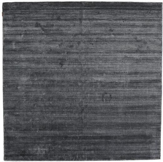 Bamboo Silkki Loom - Charcoal Matto 250X250 Moderni Neliö Violetti/Tummanharmaa/Musta Isot ( Intia)