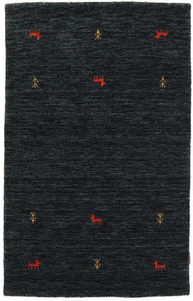 Gabbeh Loom Two Lines - Musta/Harmaa Matto 100X160 Moderni Musta (Villa, Intia)