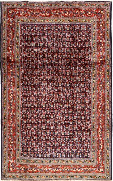 Sarough Mir Matto 202X327 Itämainen Käsinsolmittu Tummanpunainen/Tummanvioletti (Villa, Persia/Iran)