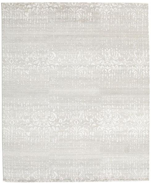 Himalaya Matto 249X303 Moderni Käsinsolmittu Tummanbeige/Vaaleanharmaa (Villa/Bambu Silkki, Intia)
