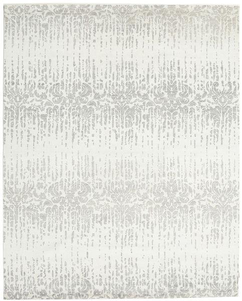 Himalaya Matto 246X305 Moderni Käsinsolmittu Beige/Vaaleanharmaa/Valkoinen/Creme (Villa/Bambu Silkki, Intia)