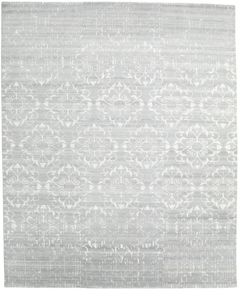 Himalaya Matto 248X303 Moderni Käsinsolmittu Beige/Siniturkoosi (Villa/Bambu Silkki, Intia)