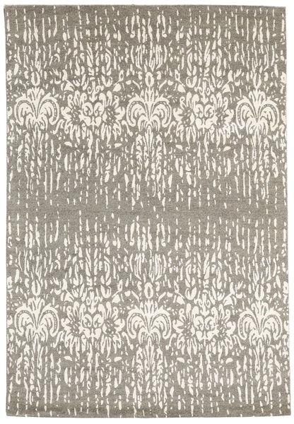 Himalaya Matto 167X245 Moderni Käsinsolmittu Vaaleanharmaa/Beige (Villa/Bambu Silkki, Intia)