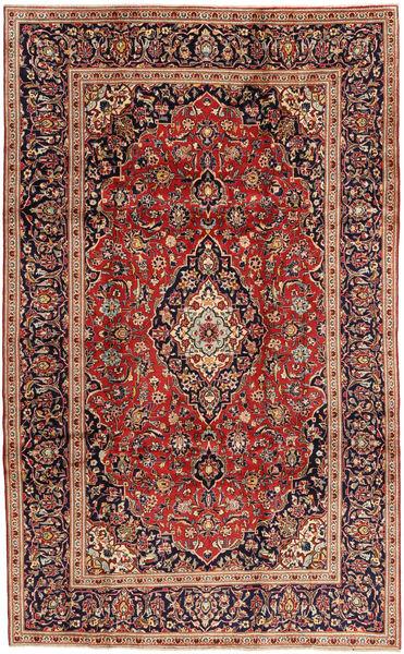 Keshan Matto 197X323 Itämainen Käsinsolmittu Tummanpunainen/Tummanruskea (Villa, Persia/Iran)