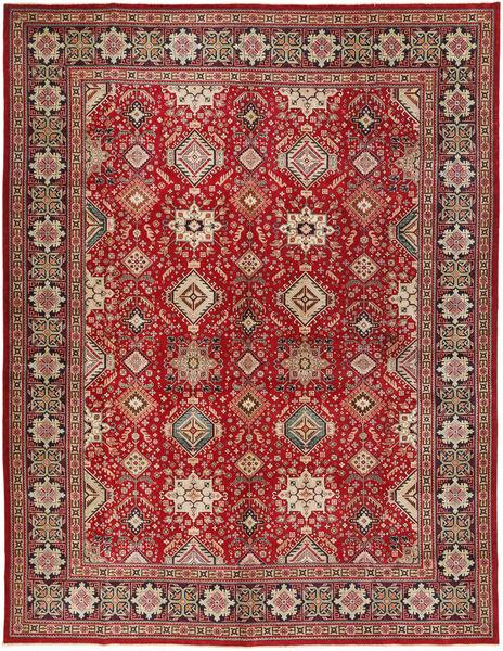 Tabriz Patina Matto 295X390 Itämainen Käsinsolmittu Tummanpunainen/Vaaleanruskea Isot (Villa, Persia/Iran)