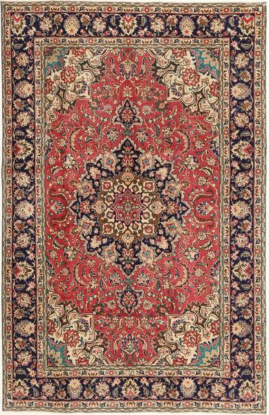 Tabriz Patina Matto 190X297 Itämainen Käsinsolmittu Vaaleanruskea/Tummanruskea (Villa, Persia/Iran)
