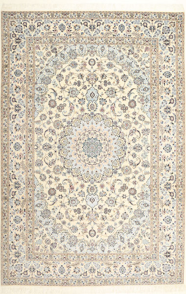 Nain 6La Habibian Matto 206X308 Itämainen Käsinsolmittu Beige/Vaaleanharmaa (Villa/Silkki, Persia/Iran)