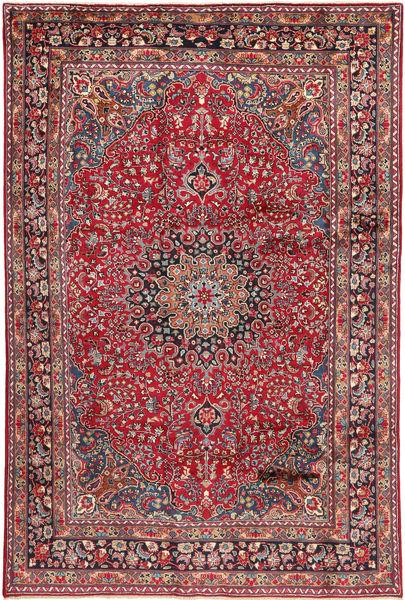 Ardebil Matto 186X300 Itämainen Käsinsolmittu Tummanpunainen/Tummanruskea (Villa, Persia/Iran)