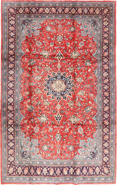 Sarough Matto 221X342 Itämainen Käsinsolmittu Vaaleanpunainen/Vaaleanharmaa (Villa, Persia/Iran)