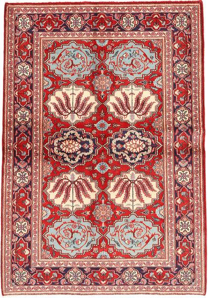Keshan Matto 133X197 Itämainen Käsinsolmittu Tummanpunainen/Ruoste (Villa, Persia/Iran)