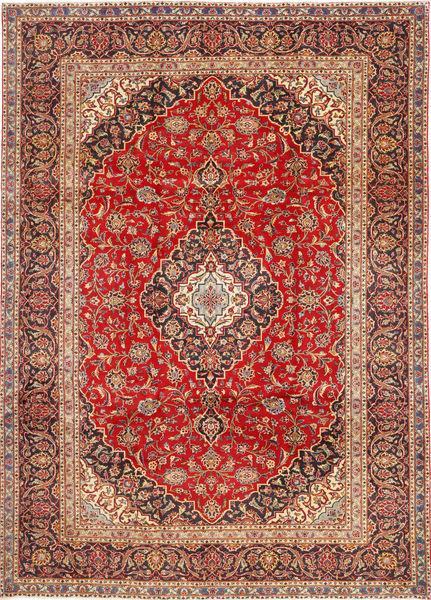 Keshan Matto 252X345 Itämainen Käsinsolmittu Ruoste/Tummanpunainen/Tummanruskea Isot (Villa, Persia/Iran)