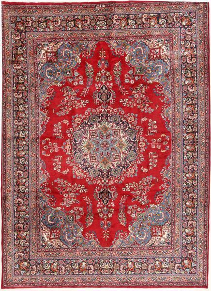 Mashad Matto 245X350 Itämainen Käsinsolmittu Tummanpunainen/Vaaleanharmaa (Villa, Persia/Iran)