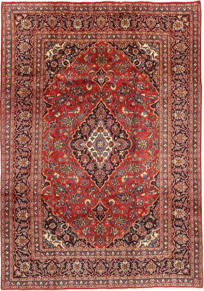 Mashad Matto 201X290 Itämainen Käsinsolmittu Tummanpunainen/Tummanruskea (Villa, Persia/Iran)