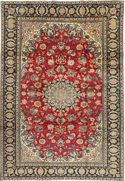 Najafabad Matto 223X332 Itämainen Käsinsolmittu Tummanharmaa/Tummanbeige (Villa, Persia/Iran)