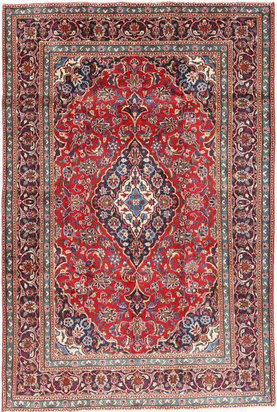Mashad Matto 191X284 Itämainen Käsinsolmittu Tummanharmaa/Tummanpunainen (Villa, Persia/Iran)
