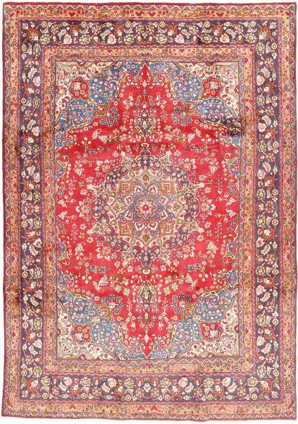 Mashad Matto 243X344 Itämainen Käsinsolmittu Vaaleanpunainen/Ruskea (Villa, Persia/Iran)