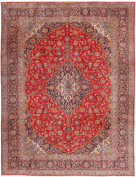 Keshan Matto 315X420 Itämainen Käsinsolmittu Tummanpunainen/Ruoste Isot (Villa, Persia/Iran)