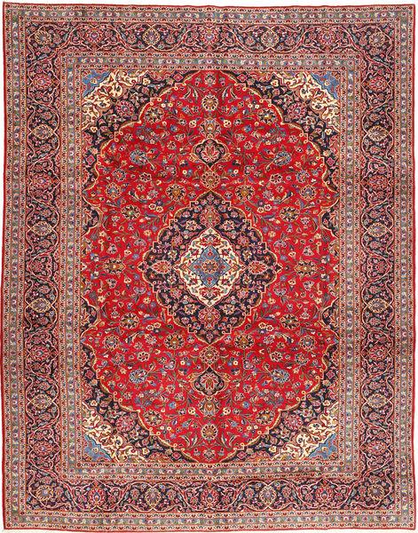 Keshan Matto 303X388 Itämainen Käsinsolmittu Tummanpunainen/Ruoste Isot (Villa, Persia/Iran)