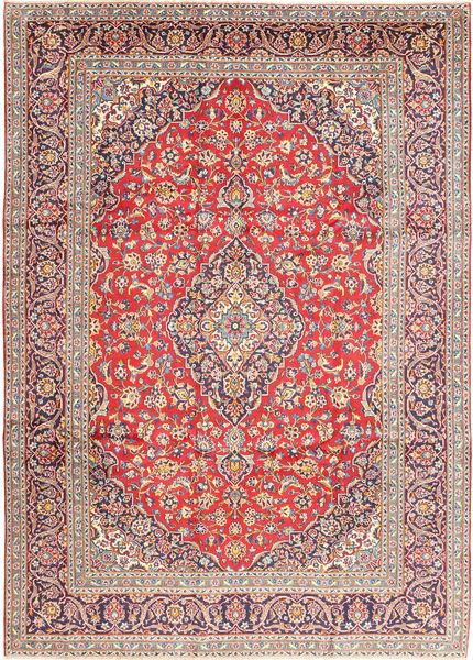 Keshan Matto 253X355 Itämainen Käsinsolmittu Vaaleanharmaa/Ruoste Isot (Villa, Persia/Iran)