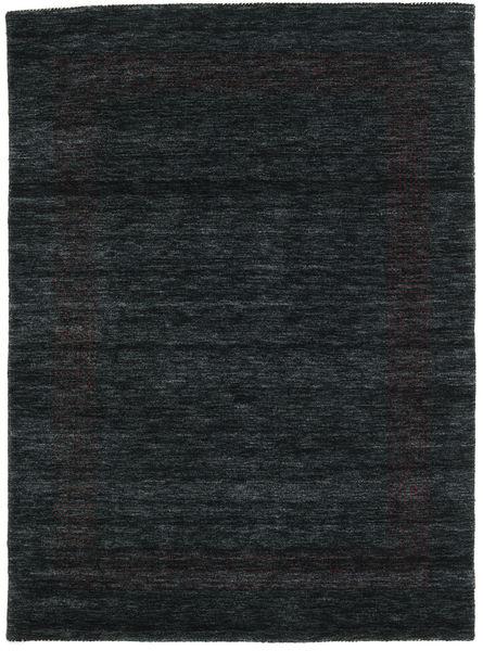 Handloom Gabba - Musta/Harmaa Matto 140X200 Moderni Musta (Villa, Intia)