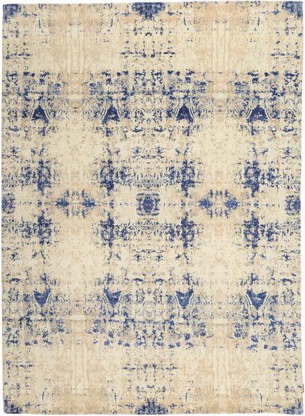 Roma Moderni Collection Matto 243X338 Moderni Käsinsolmittu Beige/Vaaleanharmaa/Tummanbeige ( Intia)