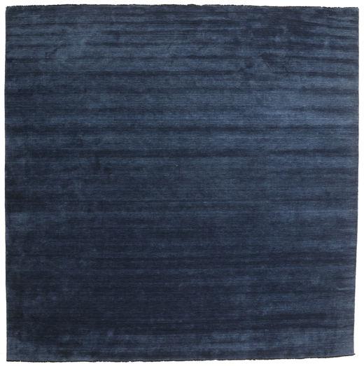Handloom Fringes - Tummansininen Matto 400X400 Moderni Neliö Tummansininen/Sininen Isot (Villa, Intia)