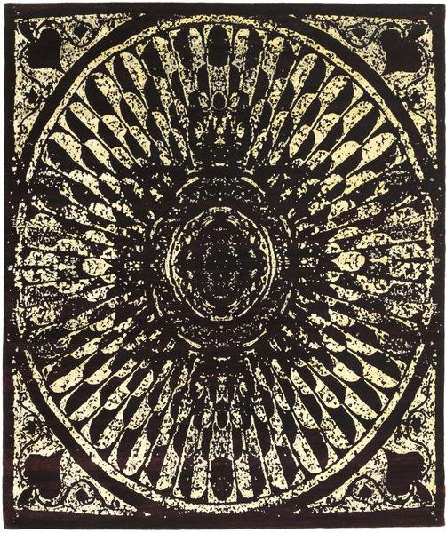Roma Moderni Collection Matto 249X302 Moderni Käsinsolmittu Tummanruskea ( Intia)