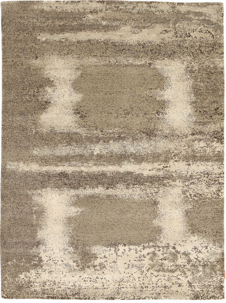 Damask Collection Matto 175X240 Moderni Käsinsolmittu Vaaleanharmaa/Beige ( Intia)