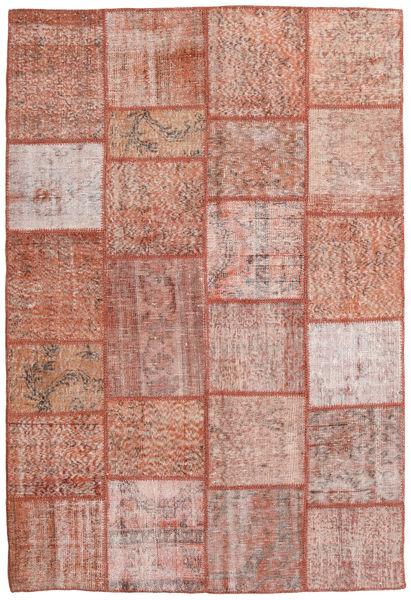 Patchwork Matto 158X233 Moderni Käsinsolmittu Vaaleanpunainen/Tummanpunainen/Beige (Villa, Turkki)