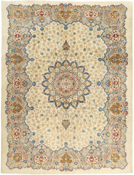 Keshan Matto 293X388 Itämainen Käsinsolmittu Tummanbeige/Beige Isot (Villa, Persia/Iran)