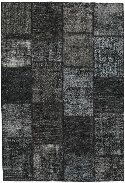 Patchwork Matto 159X231 Moderni Käsinsolmittu Tummanvihreä/Tummanharmaa (Villa, Turkki)